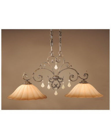 Vaxcel Lighting EP-PDD400 AW Two Light Island Chandelier in Aged Walnut Finish - Quality Discount Lighting