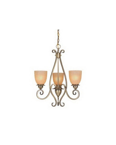 Vaxcel Lighting CH35903 AC Three Light Chandelier in Antique Brass Finish - Quality Discount Lighting