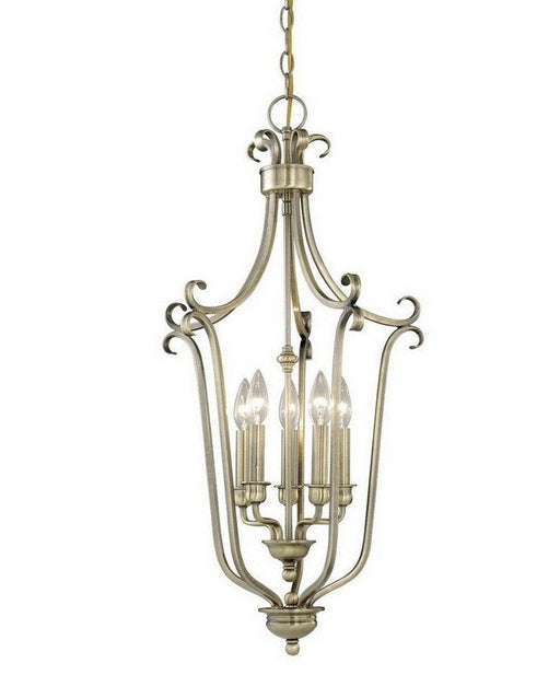 Vaxcel Lighting PD35916 A Five Light Pendant Chandelier in Antique Brass Finish - Quality Discount Lighting
