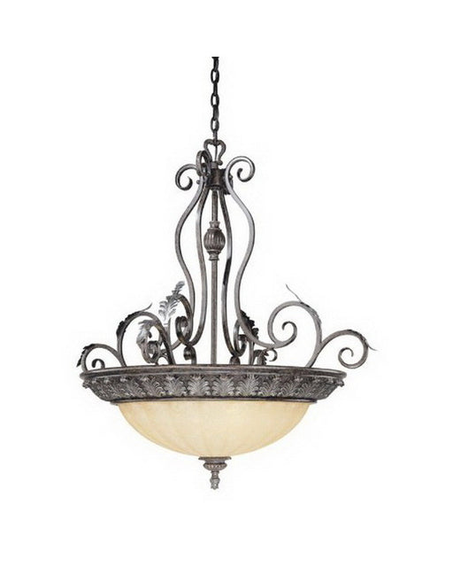 Vaxcel Lighting PR-PDU350 BA Five Light Pendant Chandelier in Burnt Patina Bronze Finish - Quality Discount Lighting