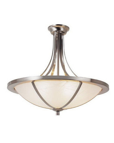 Trans Globe Lighting 10123 BN Five Light Semi Flush Ceiling Mount in Brushed Nickel Finish - Quality Discount Lighting