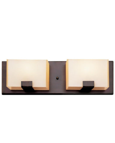 Trans Globe Lighting 20202 ROB Two Light Bath Vanity Wall Mount in Rubbed Oil Bronze Finish - Quality Discount Lighting