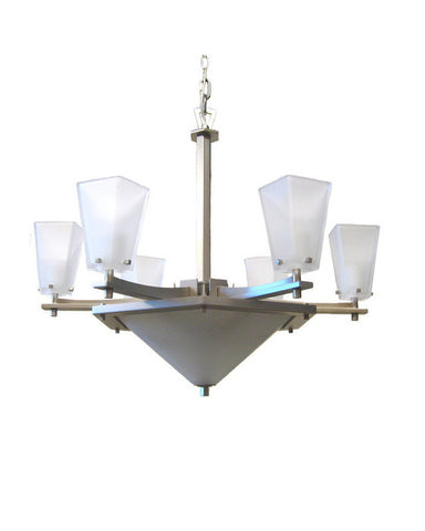 Kalco Lighting 4459 SN Nine Light Chandelier in Satin Nickel Finish - Quality Discount Lighting