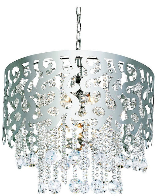 Trans Globe Lighting MDN-694 PC Five Light Crystal Chandelier in Polished Chrome Finish - Quality Discount Lighting