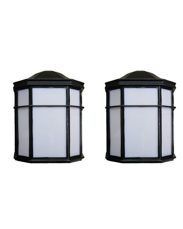 Epiphany Lighting 104894 Bk One Light Outdoor Exterior: Epiphany Lighting TWO PACK EB446-26 BK Energy Saving