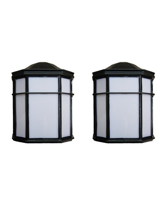 Epiphany Lighting TWO PACK EB446-26 BK Energy Saving Fluorescent Two Light Outdoor Wall Mount Exterior in Black Finish