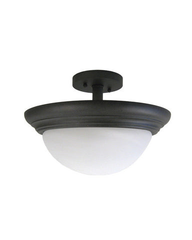 Kalco Lighting 1705 RB Two Light Semi Flush Ceiling Mount in Rembrant Finish - Quality Discount Lighting