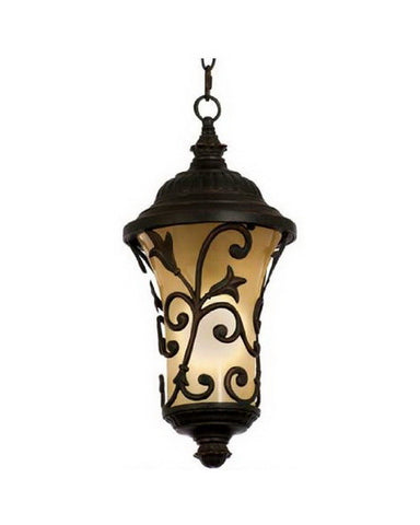 Kalco Lighting 9295 ACPL One Light Energy Efficient Fluorescent Outdoor Exterior Hanging Lantern in Antique Copper Finish - Quality Discount Lighting