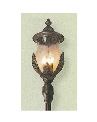 Kalco Lighting 9052 FE Three Light Outdoor Exterior Post Lantern in Feldspar Finish - Quality Discount Lighting