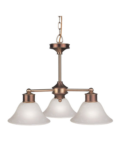 Z-Lite Lighting 309-3C Three Light Chandelier in Burnished Nickel and Chocolate Finish - Quality Discount Lighting