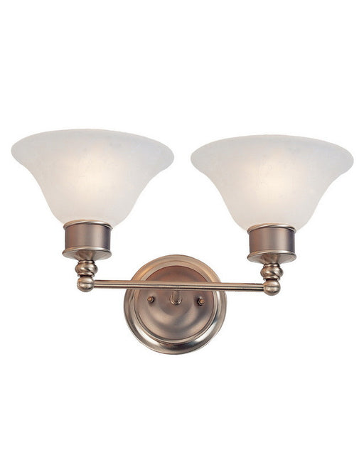 Z-Lite Lighting 309-2V Two Light Bath Vanity Wall Mount in Burnished Nickel and Chocolate Finish - Quality Discount Lighting