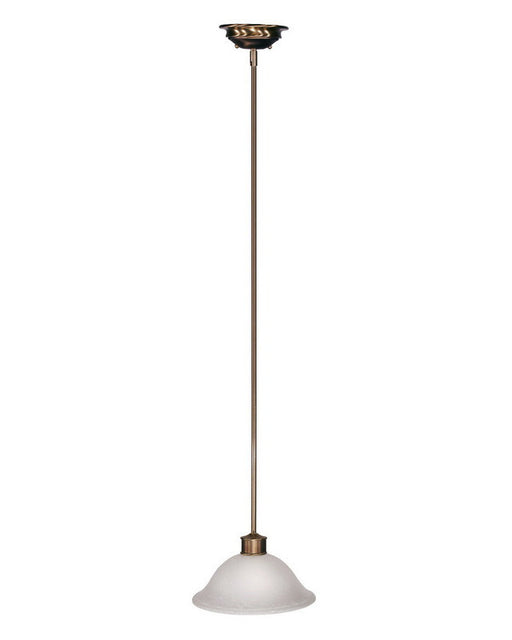 Z-Lite Lighting 309-12P One Light Hanging Pendant in Burnished Nickel and Chocolate Finish - Quality Discount Lighting