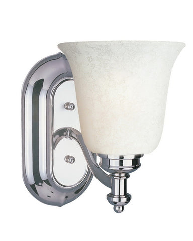 Z-Lite Lighting 301-1V-CH-WM6 One Light Wall Sconce in Polished Chrome Finish - Quality Discount Lighting