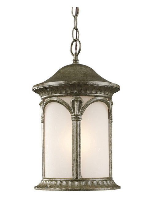 Z-Lite Lighting 2021CH-AS One Light Outdoor Exterior Hanging Mount in Antique Silver Finish - Quality Discount Lighting