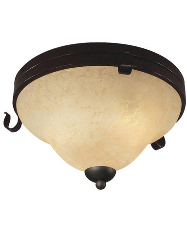 Z-Lite Lighting 14073F Three Light Flush Ceiling Mount in Matte Coffee Finish - Quality Discount Lighting