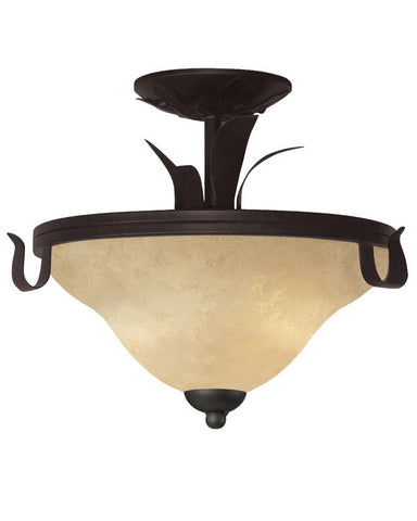 Z-Lite Lighting 14073SF Three Light Semi Flush Ceiling Mount in Matte Coffee Finish - Quality Discount Lighting
