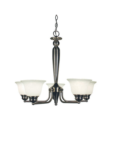 Z-Lite Lighting 100-5P-BN Five Light Hanging Chandelier in Brushed Nickel Finish - Quality Discount Lighting