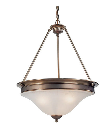 Z-Lite Lighting 309P Three Light Pendant Chandelier in Burnished Nickel and Chocolate Finish - Quality Discount Lighting