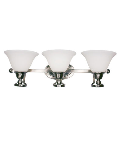 Z-Lite Lighting 316-3V Three Light Bath Vanity Wall Fixture in Brushed Nickel Finish - Quality Discount Lighting