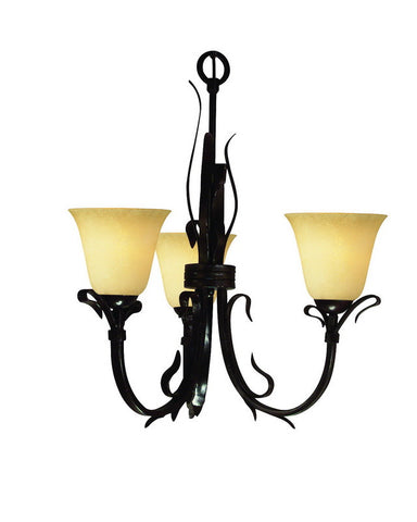 Z-Lite Lighting 4073U Three Light Chandelier in Matte Coffee Finish - Quality Discount Lighting