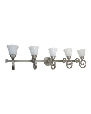 Epiphany Lighting 106155 BN-2537 Five Light Bath Wall Fixture in Brushed Nickel Finish