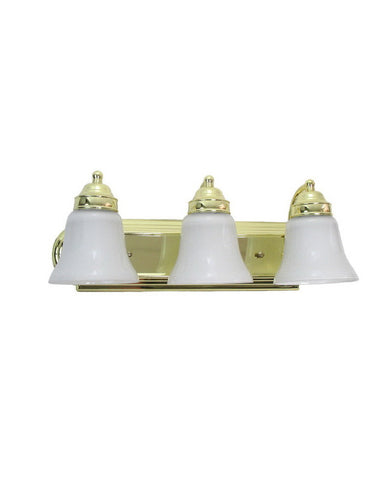 Epiphany Lighting 106136 PB-2537 Three Light Bath Wall Fixture in Polished Brass Finish