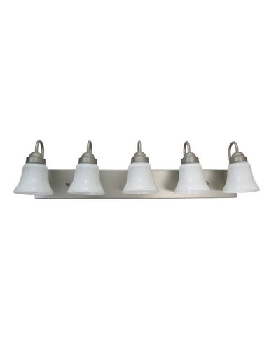 Epiphany Lighting 106095 BN-2537 Five Light Bath Wall Fixture in Brushed Nickel Finish