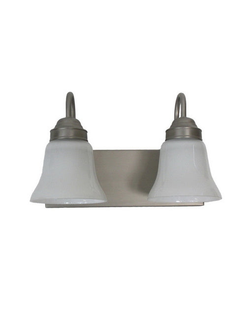 Epiphany Lighting 106080 BN-2537 Two Light Bath Wall Fixture in Brushed Nickel Finish