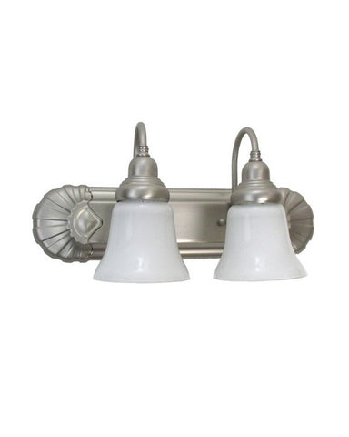 Epiphany Lighting 106172 BN-2537 Two Light Bath Vanity Wall Fixture in Brushed Nickel Finish