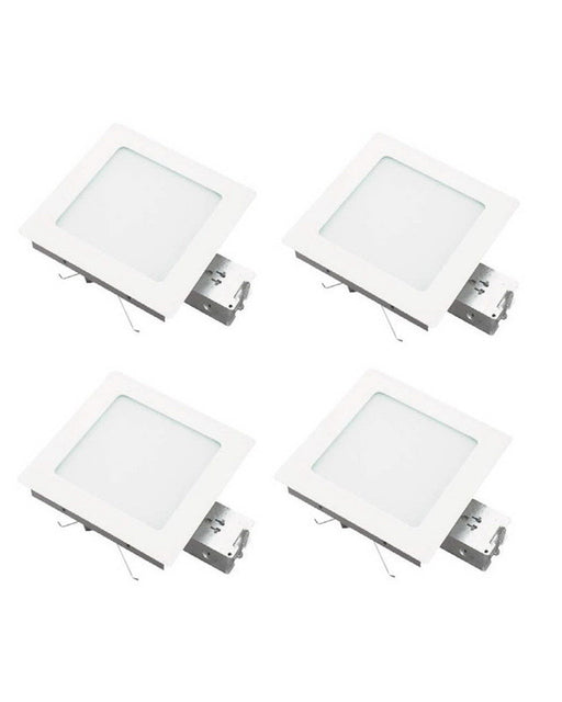 Leadco Lighting SR41117 WH FOUR PACK of Square Non IC New Construction Recessed Cans - Quality Discount Lighting