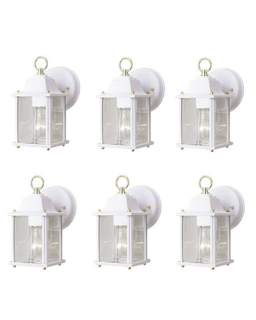 Kichler Lighting 281 WH SIX PACK One Light Exterior Outdoor Wall Mount in White Finish - Quality Discount Lighting
