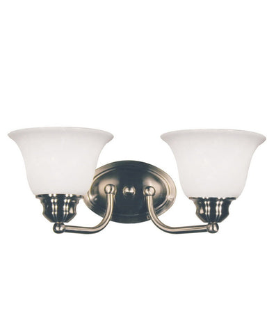 Z-Lite Lighting 100-2V-BN Two Light Bath Vanity Wall Sconce in Brushed Nickel Finish - Quality Discount Lighting