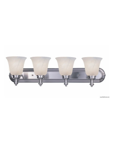 Z-Lite Lighting 301-4V-BN-WMG Four Light Bath Vanity Wall Mount in Brushed Nickel Finish - Quality Discount Lighting