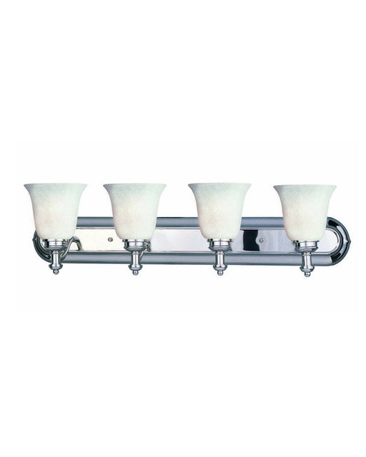 Z-Lite Lighting 301-4V-CH-WMG Four Light Bath Vanity Wall Mount in Polished Chrome Finish - Quality Discount Lighting