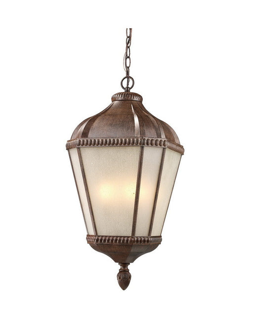 Z-Lite Lighting 513CHM-WB Three Light Outdoor Exterior Hanging Pendant Mount in Weathered Bronze Finish - Quality Discount Lighting