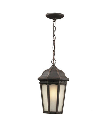 Z-Lite Lighting 508CHB-ABR One Light Outdoor Exterior Hanging Pendant Mount in Antique Bronze Finish - Quality Discount Lighting
