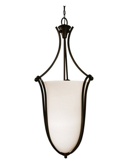 Z-Lite Lighting 318P-43 Six Light Hanging Pendant Chandelier in Bronze Finish - Quality Discount Lighting