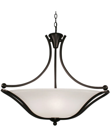 Z-Lite Lighting 317P-28 Three Light Hanging Pendant Chandelier in Bronze Finish - Quality Discount Lighting