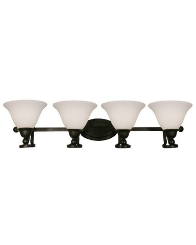 Z-Lite Lighting 317-4V Four Light Bath Vanity Wall Mount in Bronze Finish - Quality Discount Lighting