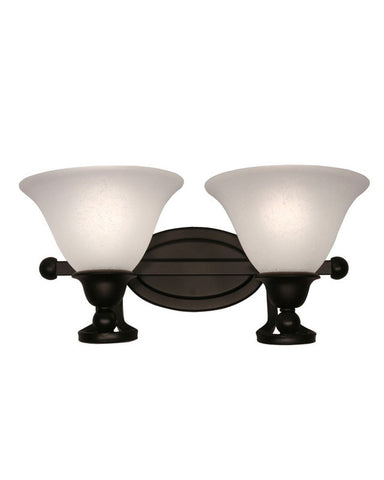 Z-Lite Lighting 317-2V Two Light Bath Vanity Wall Mount in Bronze Finish - Quality Discount Lighting