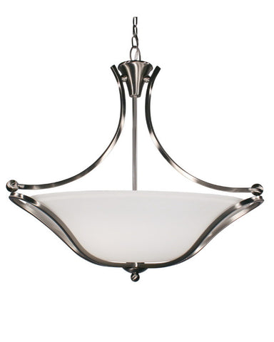 Z-Lite Lighting 316P-28 Three Light Hanging Pendant Chandelier in Brushed Nickel Finish - Quality Discount Lighting