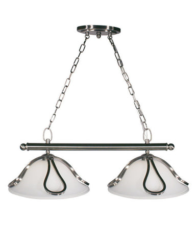 Z-Lite Lighting 316-2 Two Light Island Hanging Pendant Chandelier in Brushed Nickel Finish - Quality Discount Lighting