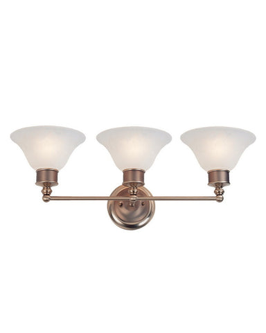 Z-Lite Lighting 309-3V Three Light Bath Vanity Wall Mount in Burnished Nickel and Chocolate Finish - Quality Discount Lighting