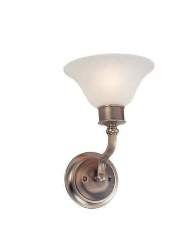 Z-Lite Lighting 309-1S One Light Wall Sconce in Burnished Nickel and Chocolate Finish - Quality Discount Lighting