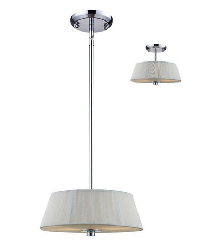 Z-Lite Lighting 162-12W-C Two Light Pendant Chandelier or Semi Flush Ceiling Mount in Polished Chrome Finish - Quality Discount Lighting