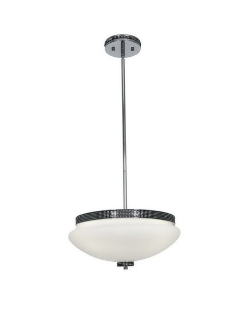 Access Lighting 23867 CHOPL Three Light Hanging Pendant Chandelier in Polished Chrome and Onyx Finish - Quality Discount Lighting