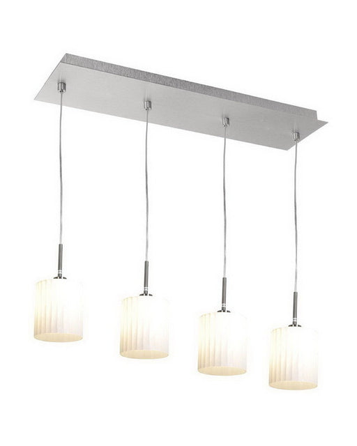 Access Lighting 50964 BSWH Four Light Pendant Chandelier in Brushed Steel Finish - Quality Discount Lighting