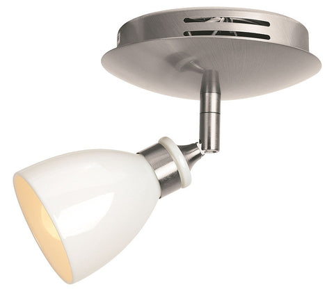 Access Lighting 52210 BS/WHP Petra Collection Swivel Contemporary Spot Light - Quality Discount Lighting