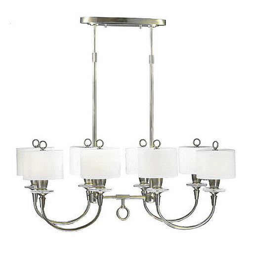 Stylicon by Thomas Lighting AB1504 MCS Meridian Collection 8 Light Chandelier in Marcasite Finish - Quality Discount Lighting