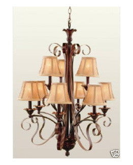 Trans Globe Lighting 8779 ABR 9 Light Chandelier in Antique Brown Finish - Quality Discount Lighting